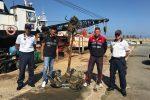 Vibo Valentia, ritrovata nelle acque del porto un'ancora del XIX secolo