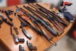 Arsenale da guerra nascosto in casa, coppia arrestata a Stefanaconi