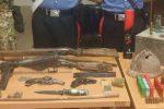 Santa Cristina d'Aspromonte, trovate armi e munizioni: arrestati madre e figlio