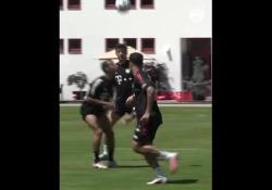Bayern Monaco, le magie del trio delle meraviglie Un numero di alta classe durante gli allenamenti della squadra tedesca - Dalla Rete