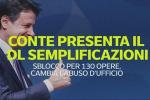 Conte presenta il dl semplificazioni, sblocco per 130 opere, cambia l'abuso d'ufficio