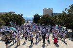 Messina, in centinaia in piazza Unione Europea per dire sì al Ponte sullo Stretto