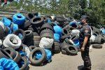 Montalto Uffugo, sequestrati pneumatici nel piazzale di un capannone abbandonato