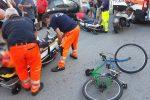 Messina, scontro tra scooter e bici a Provinciale: due feriti
