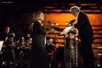 A dare voce all'opera Tosca, Massimo Popolizio e il soprano Maria Rita Combattelli