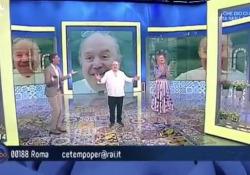 Lino Banfi festeggia 84 anni in tv, Anna Falchi canta «Tanti auguri a te» L'attore era ospite nella trasmissione di RaiUno «C'è tempo per…» - Corriere TV