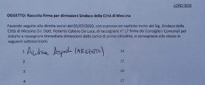 Messina, il capogruppo del M5S avvia la raccolta firme per la sfiducia a De Luca
