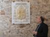 Crotone, l'arcivescovo Panzetta ha il suo stemma: l'emblema all'entrata del palazzo della Diocesi