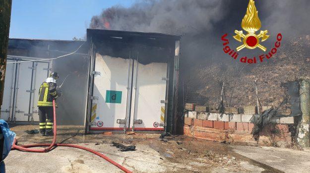 incendio, marcellinara, Catanzaro, Calabria, Cronaca