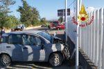 Incidente a Lamezia, auto si scontra con un pulmino: grave un conducente