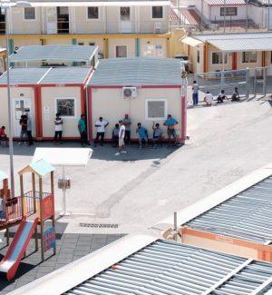 L'ormai ex centro di accoglienza di Bisconte