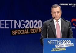 Il discorso di Draghi in 3 minuti: giovani, futuro e il «debito buono» Le parole chiave dell'intervento dell'ex presidente della Bce al Meeting di Rimini - Corriere Tv