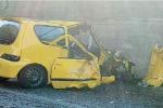 Auto contro muro sulla tangenziale di Messina, muore a 64 anni