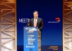 Meeting di Rimini, Draghi: «Ai giovani bisogna dare di più» L'ex presidente della Bce: «La pandemia minaccia economia e diffonde incertezza» - Ansa