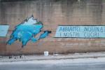 """Reggio, realizzato murales di protesta a Catona: """"C'è tanto da fare per non tradire il mare"""""""