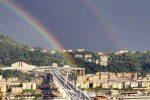 """L'arcobaleno saluta il nuovo ponte di Genova, Mattarella: """"Ferita che non si rimargina"""""""