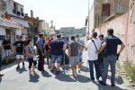 Una recente protesta dei residenti di Bisconte