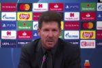 """Atletico Madrid, Simeone dopo il ko contro il Lipsia: """"Tanto amareggiato"""""""