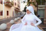 Beirut, il video choc della sposa nel momento dell'esplosione