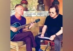 """Zucchero-Sting, duetto tra star: «E all'improvviso """"Fields of gold"""" in italiano» Video postato sulla pagina Facebook di Zucchero - Corriere Tv"""