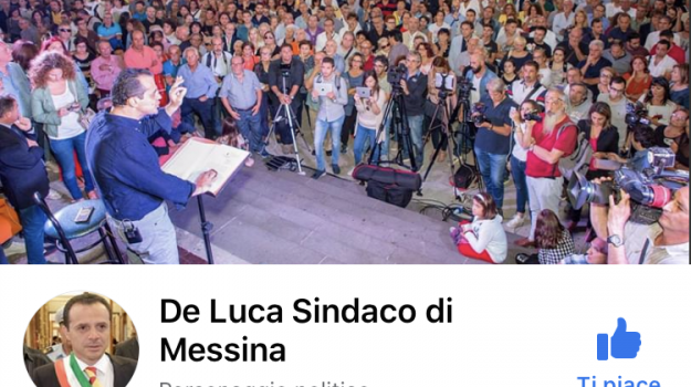 facebook, social network, Cateno De Luca, Messina, Sicilia, Politica