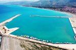 Il nuovo porto di Sant'Agata Militello in costruzione