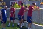 Barcellona, Suarez si allena coi compagni: assente Messi