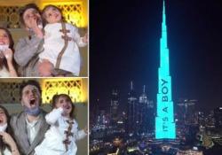 Affittano il grattacielo più alto del mondo per rivelare il sesso del nascituro Anas e Asala Marwah, influencer e star di YouTube, hanno sborsato 80.000 euro per far colorare il Burj Khalifa di Dubai - CorriereTV