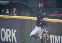 Baseball, la presa volante di Kyle Lewis Sembrava un fuori campo scontato. E invece una prodezza di Kyle Lewis ha rovinato il finale di una giocata scontata - Dalla Rete