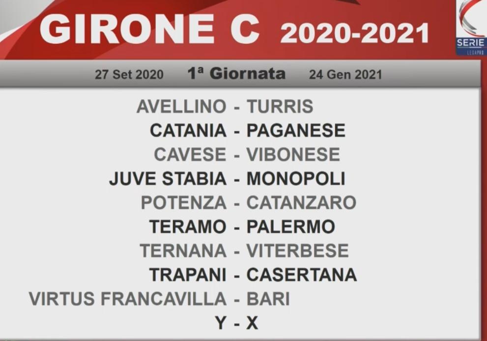 Serie C, sorteggiato il calendario: ecco i match delle squadre