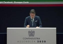 """Conte a Bonomi: """"Non c'è uno Stato buono e un privato cattivo"""" Il presidente del Consiglio parla di un """"patto di fiducia"""" intervenendo all'assemblea di Confindustria 2020 - Ansa"""