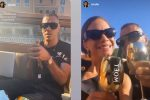 Elodie e Marracash, champagne in barca ma il tappo finisce in mare: il web s'infuria