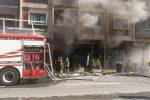 Messina, le foto dell'incendio nel negozio di biciclette in via Cesare Battisti