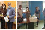 Coronavirus, club regala confezioni di disinfettante alle scuole di Melissa e Cirò Marina