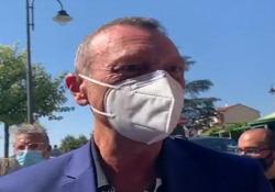 """Sanremo, Amadeus: """"Presto per dire come sarà, speriamo sia il primo post coronavirus"""" Il presentatore a Dogliani per il Festival della tv e dei nuovi media - Ansa"""
