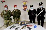 Seminara, nascondevano un arsenale in casa: arrestati padre e figlio