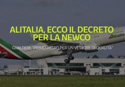 Alitalia, firmato il decreto per la Newco Gualtieri: «Primo passo per un vettore di qualità» - Ansa