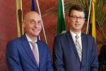 L'avvocato Alessandro Palmigiano, console onorario per la Sicilia e l'ambasciatore Mr. Ričardas Šlepavičius