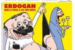 Vignetta satirica di Charlie Hebdo su Erdogan, la Turchia avvia un'inchiesta