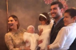 Beatrice Valli e Marco Fantini scelgono il contry chic per il battesimo di Azzurra