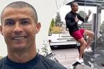 Isolato e felice: Ronaldo si allena con il nuovo look