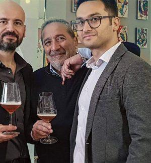 Da sinistra Giuseppe Ciponte, Demetrio Stancati dell'azienda Serracavallo e Marco Longo