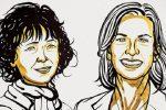 Nobel per la chimica a Charpentier e Doudna: creatrici del taglia-incolla Dna