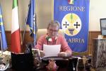 """Decreto Calabria, Spirlì legge una lettera della Santelli: """"Ci batteremo per i nostri diritti"""""""