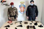 Ciminà, scoperte armi e munizioni dentro un muretto a secco