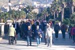 Calabria zona rossa ma il lungomare di Reggio preso d'assalto