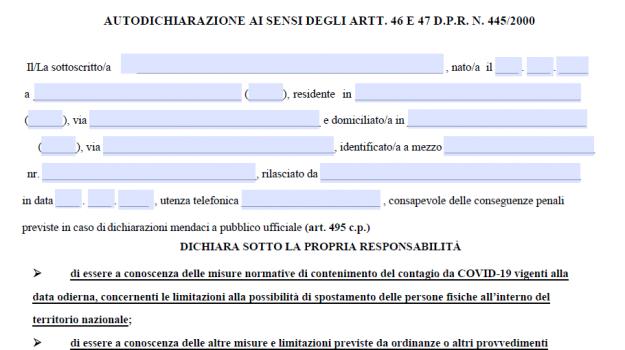 autocertificazione, coronavirus, dpcm, Sicilia, Cronaca