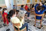 """Videolettura del giornale in classe al Collegio """"S. Ignazio"""" di Messina"""