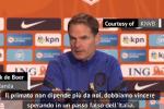 """De Boer: """"Ci vuole un passo falso dell'Italia..."""""""