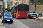 A Messina autobus investe tre auto a Camaro San Paolo